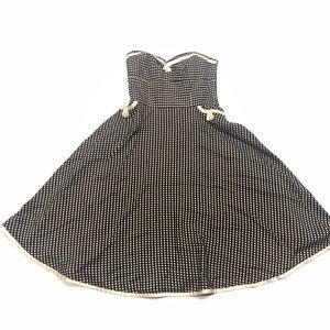 🍭 Phoebe couture polka dot silk dress 10